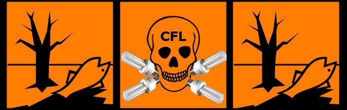 Las bombillas CFL (de bajo consumo, fluorescentes compactas) son tóxicas