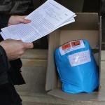 Entrega de residuos domésticos de mercurio no Concello de Ames