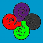 Tetrasquel do decrecemento (coas cores do ecoloxismo, marxismo, feminismo, anarquismo, e de fondo, Galiza)
