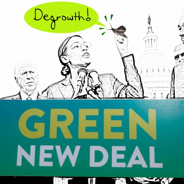 Degrowth vs. Green New Deal