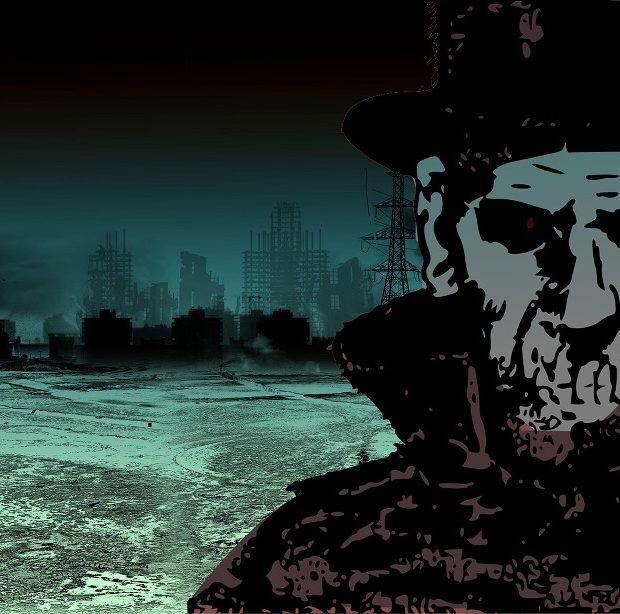 Collage de Casdeiro a partir del personaje de Dr Death (Charlton Comics, 1954) + fondo de Icheninfach (Pixabay)